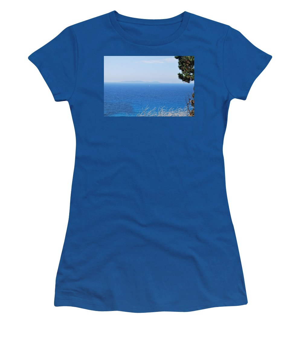 Leeward Women's T-Shirt featuring the photograph Leeward by George Katechis