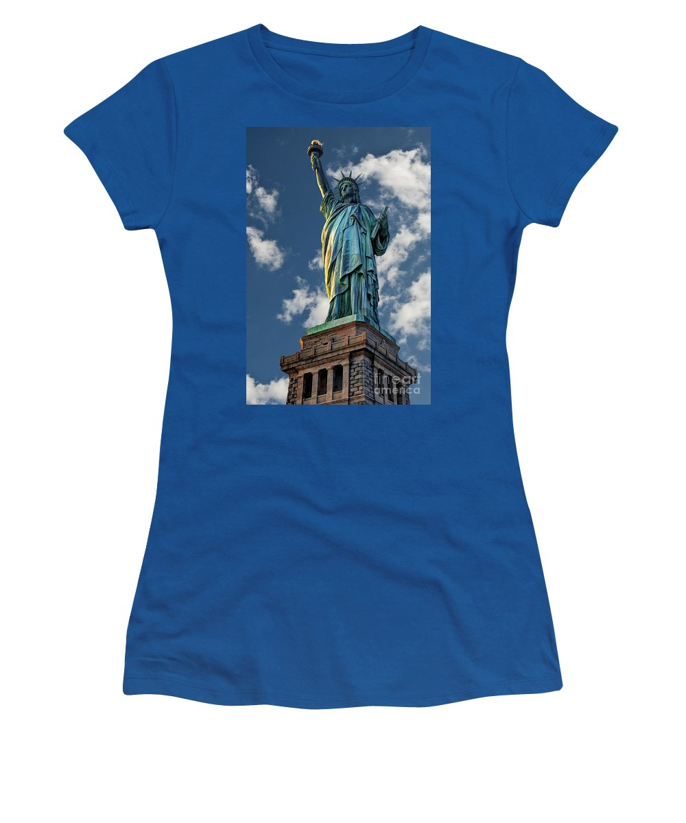 Statue Of Liberty Women's T-Shirt featuring the photograph Liberty by Steve Purnell