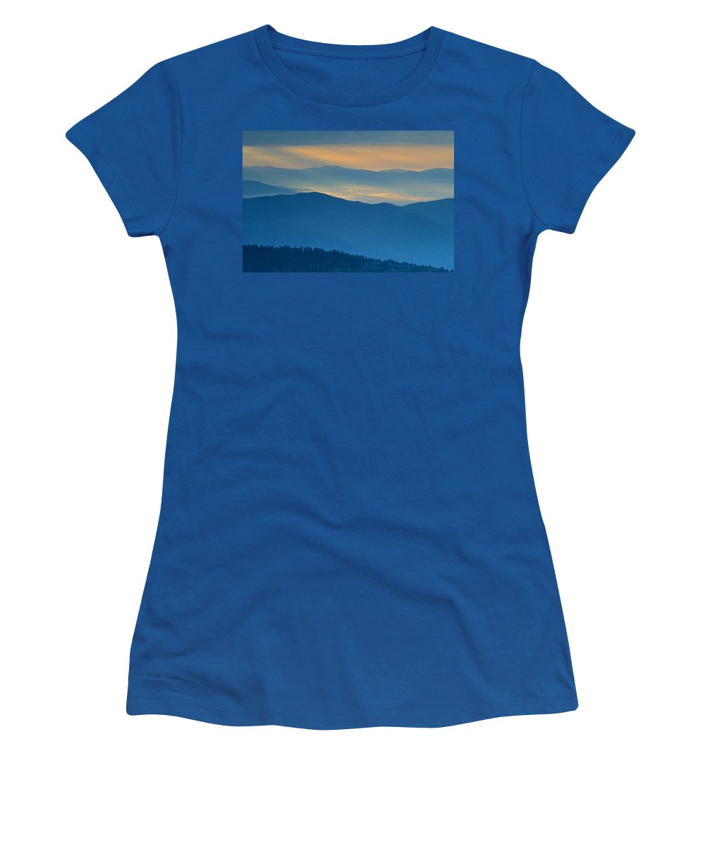 Smokies Women's T-Shirt (Athletic Fit) featuring the photograph Light In The Valley by Eric Albright