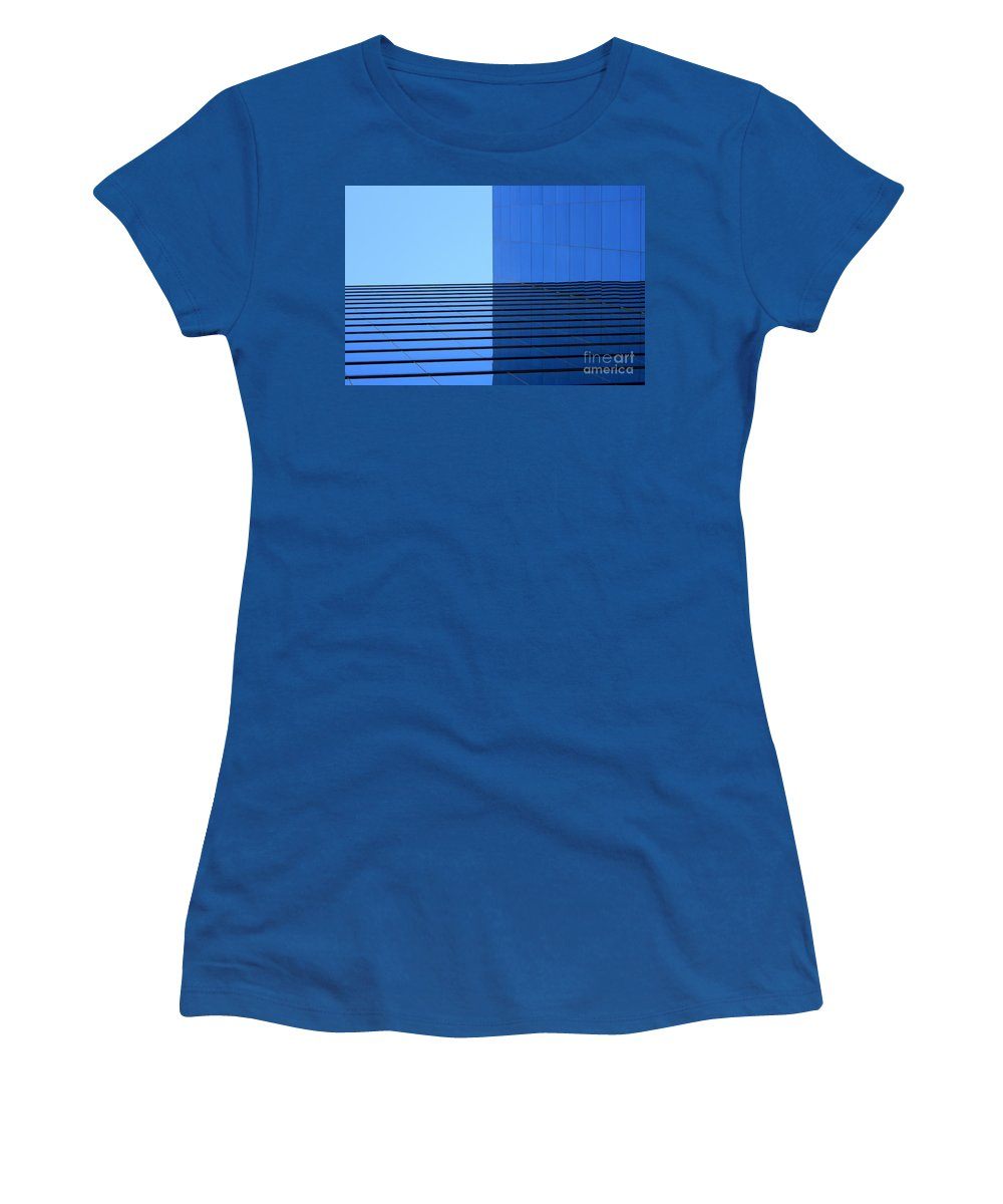 Building Women's T-Shirt featuring the photograph Squared Reflection by Ashley M Conger
