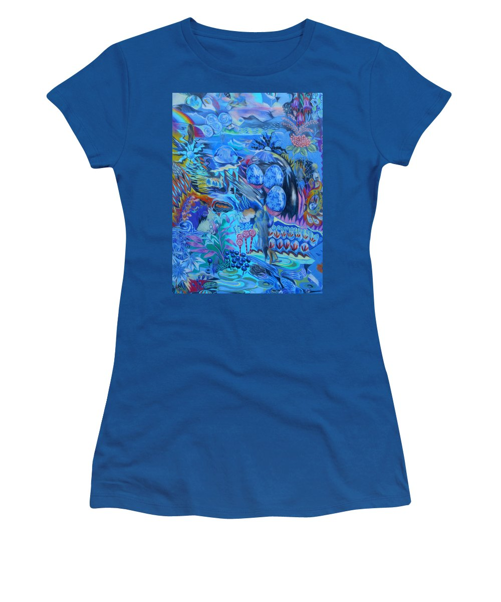 Fantasy Women's T-Shirt (Athletic Fit) featuring the painting Lollipops by Lucia Hoogervorst
