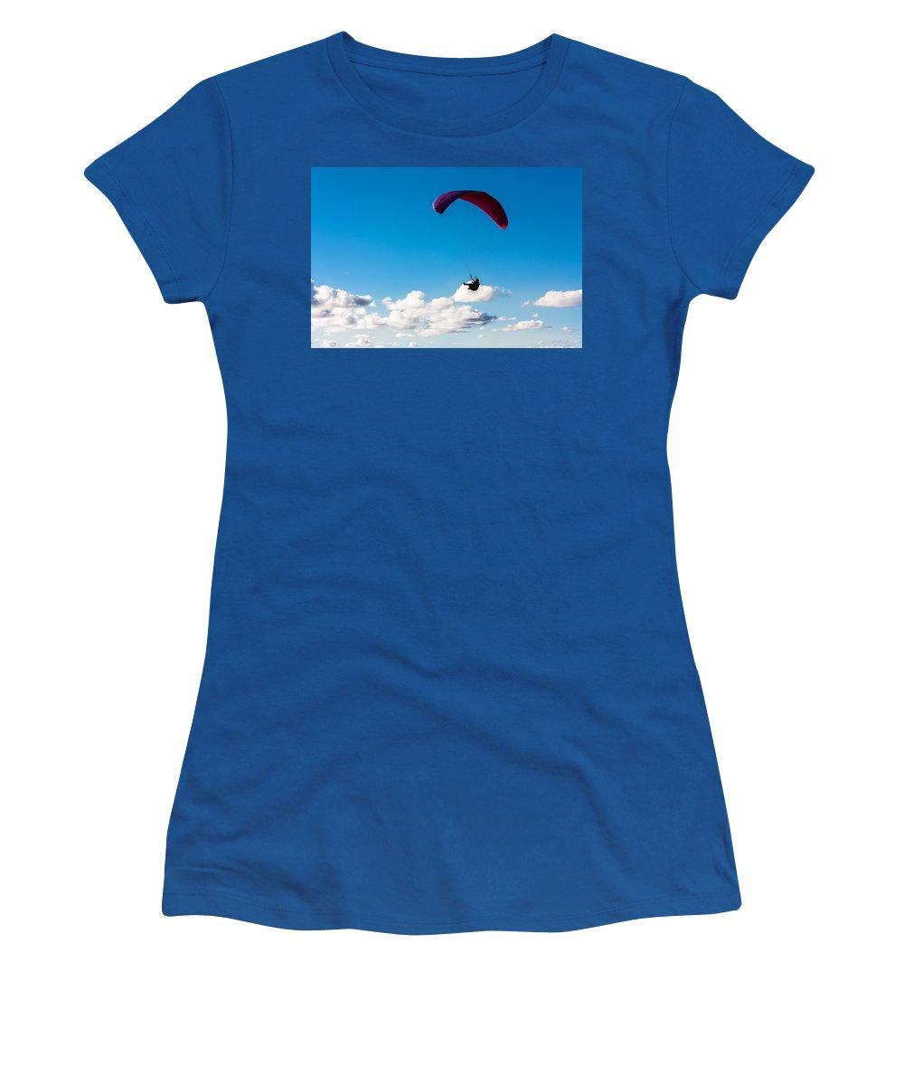 Man Bird Women's T-Shirt featuring the photograph Man Bird by Edgar Laureano