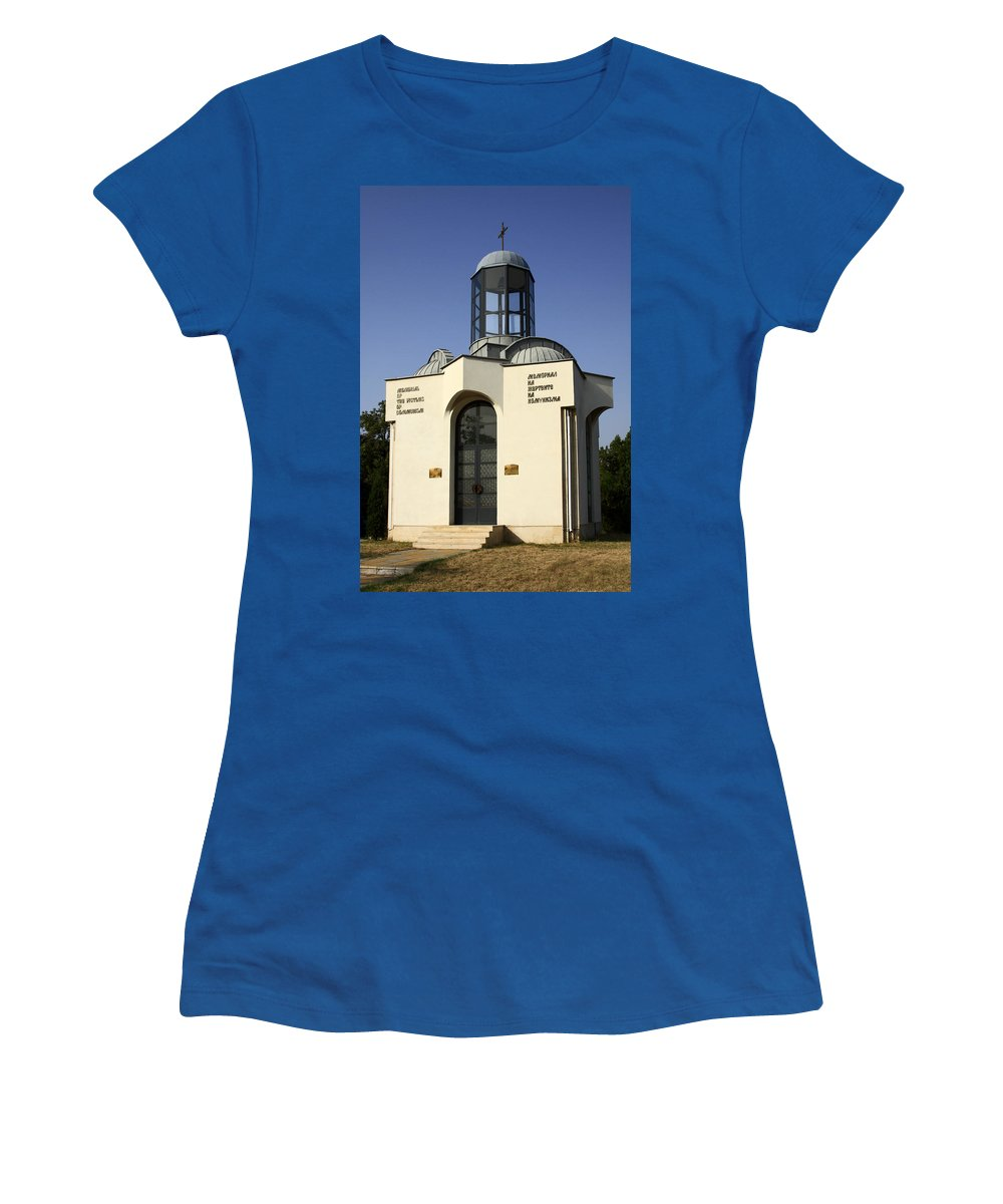 Memorial Of The Victims Of Communism Women's T-Shirt featuring the photograph Memorial Of The Victims Of Communism by Sally Weigand