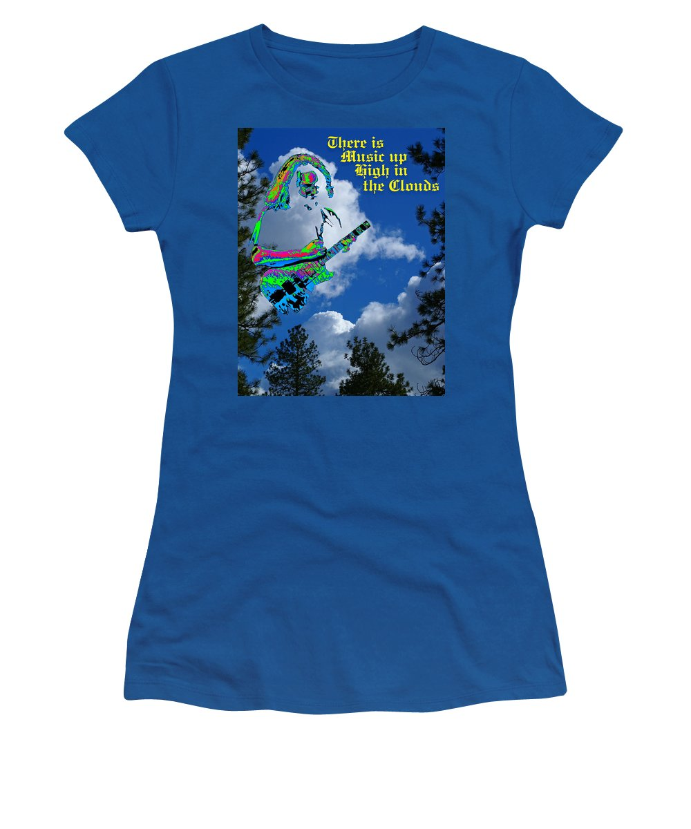 Jerry Garcia Women's T-Shirt featuring the photograph Music Up In The Clouds Again by Ben Upham