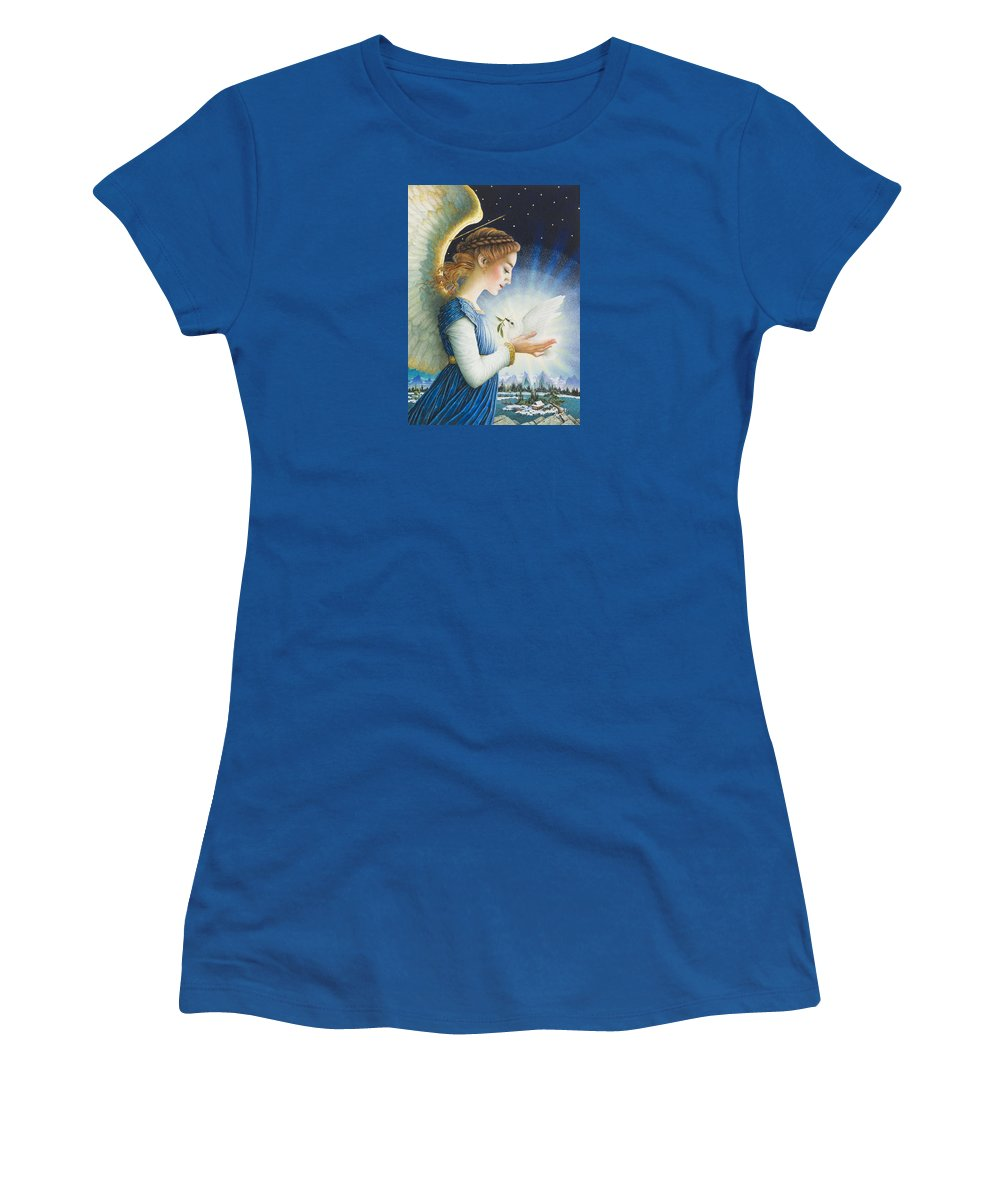 Christmas Women's T-Shirt featuring the painting Noel by Lynn Bywaters