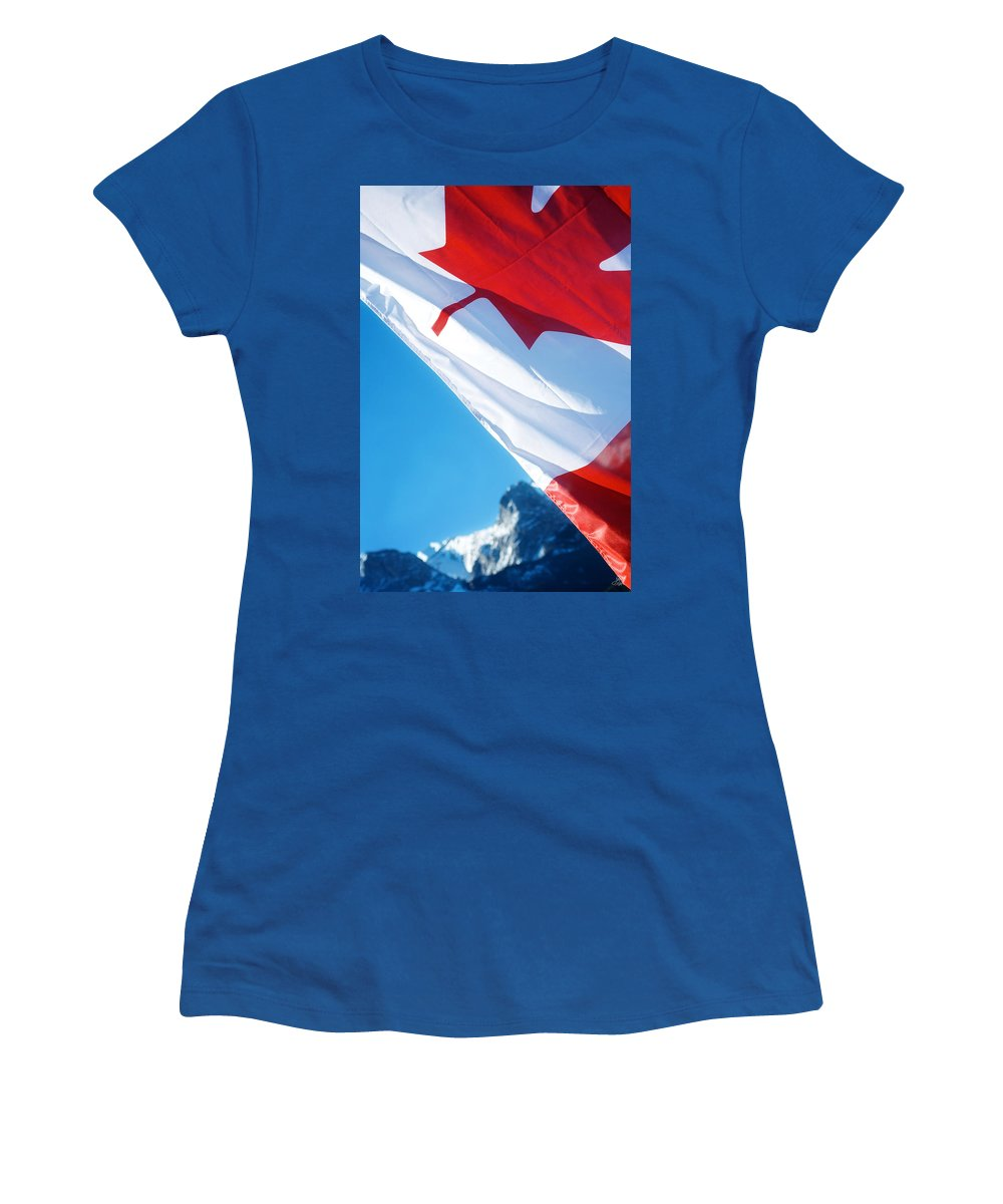 Canada Women's T-Shirt (Athletic Fit) featuring the photograph O Canada by Lisa Knechtel