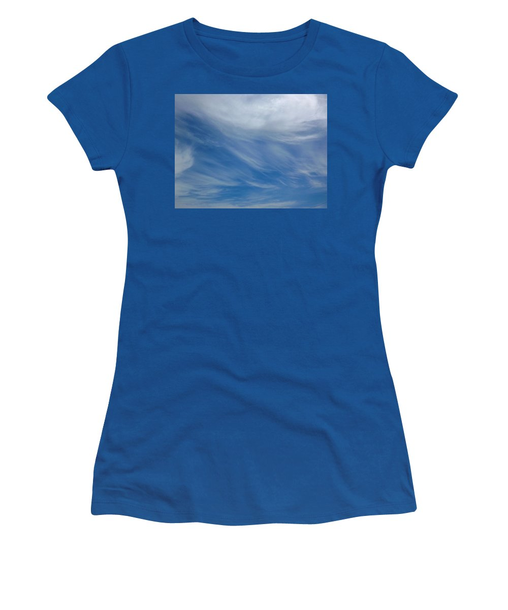 Cloud Women's T-Shirt featuring the photograph Partly Cloudy by Greg Boutz
