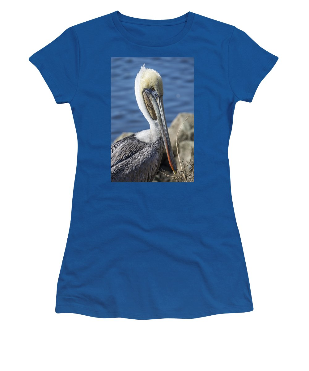 Pelican Women's T-Shirt featuring the photograph Pelican By The River by Bruce Frye