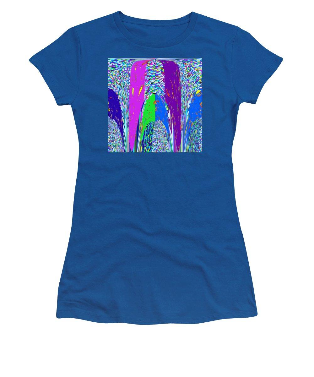 Philosophy Women's T-Shirt featuring the mixed media Philosophy Of Shivalinga Shiva Linga India Hinduism Spiritual Energy God Generator Operator And Dist by Navin Joshi