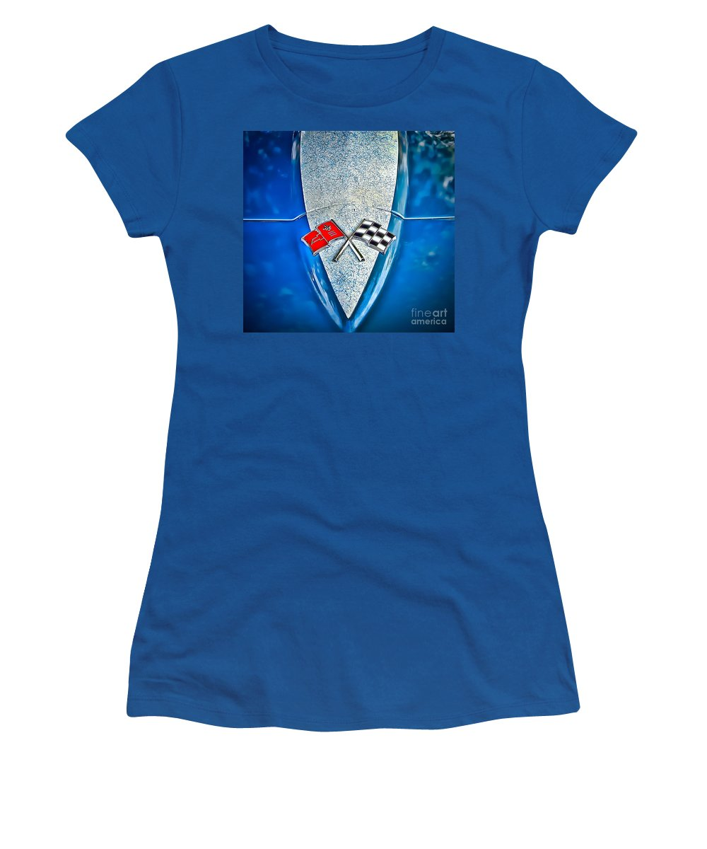 Corvette Women's T-Shirt featuring the photograph Race To Win by Colleen Kammerer
