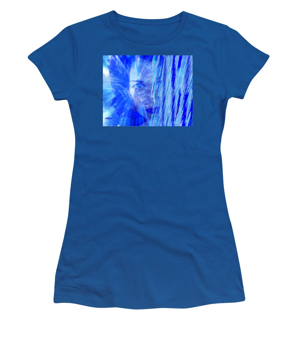 Rainy Day Dreams Women's T-Shirt (Athletic Fit) featuring the digital art Rainy Day Dreams by Seth Weaver