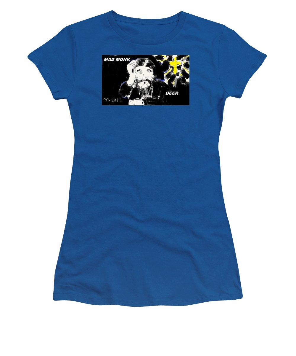 Rasputin Women's T-Shirt featuring the digital art Rasputin by Samuel Zylstra