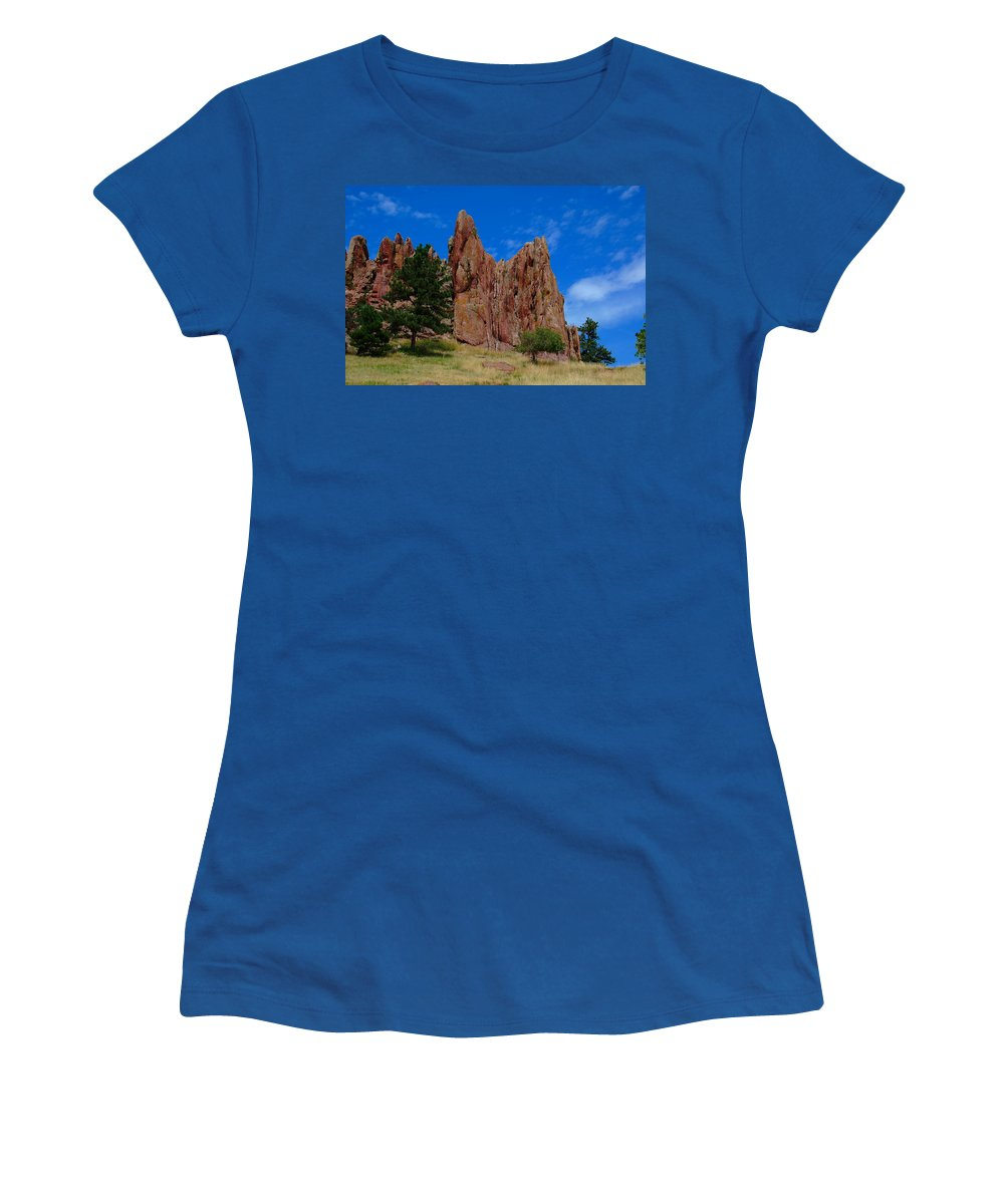 Boulder Women's T-Shirt featuring the photograph Reaching To Heaven by Kim Blaylock