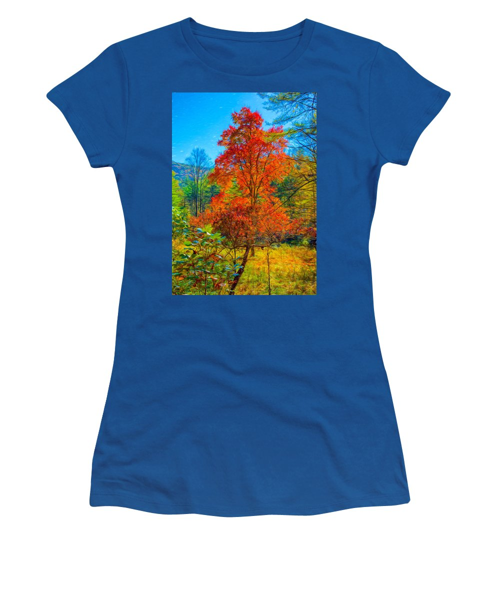 Landscape Women's T-Shirt featuring the photograph Red Tree by John M Bailey