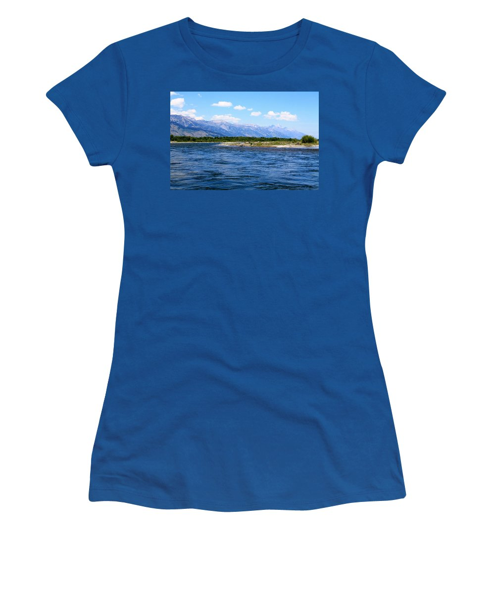 Snake River Women's T-Shirt featuring the photograph Riding The Snake by Catie Canetti