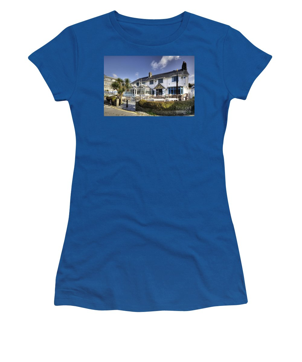 Rising Women's T-Shirt featuring the photograph Rising Sun At St Mawes by Rob Hawkins
