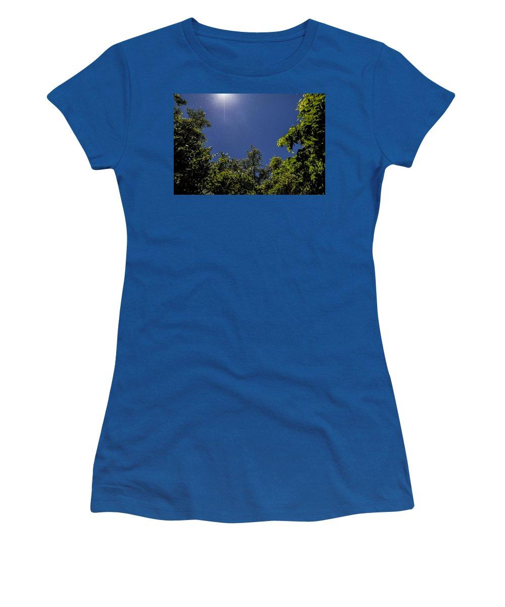 Www.cjschmit.com Women's T-Shirt featuring the photograph Seeds In The Air by CJ Schmit