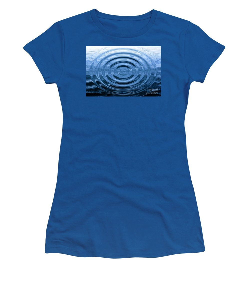 Ripples Women's T-Shirt featuring the photograph Simply Serenity by Rose Santuci-Sofranko