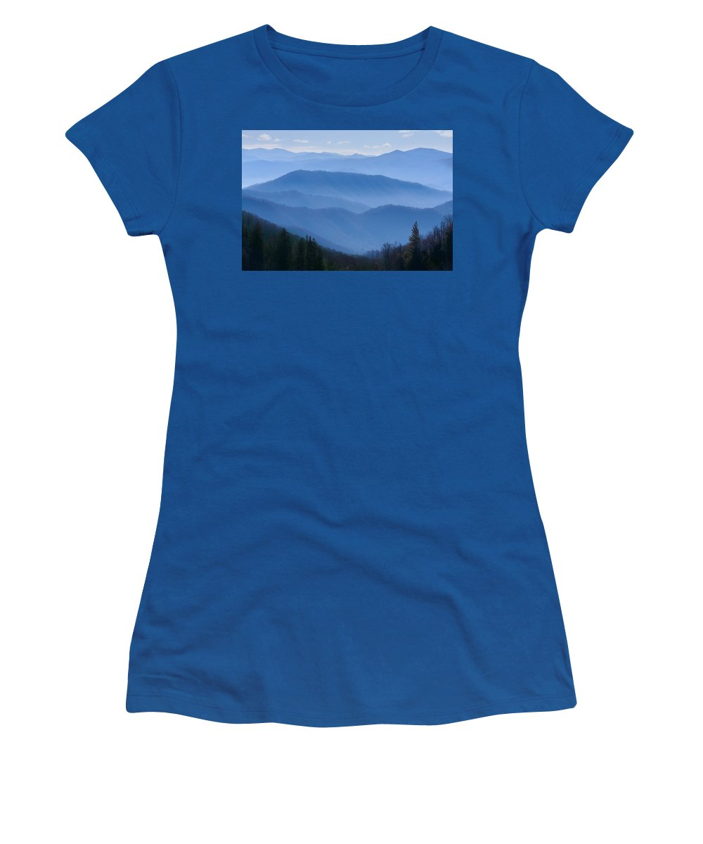 Great Smoky Mountains National Park Women's T-Shirt featuring the photograph Smoky Mountains by Melinda Fawver