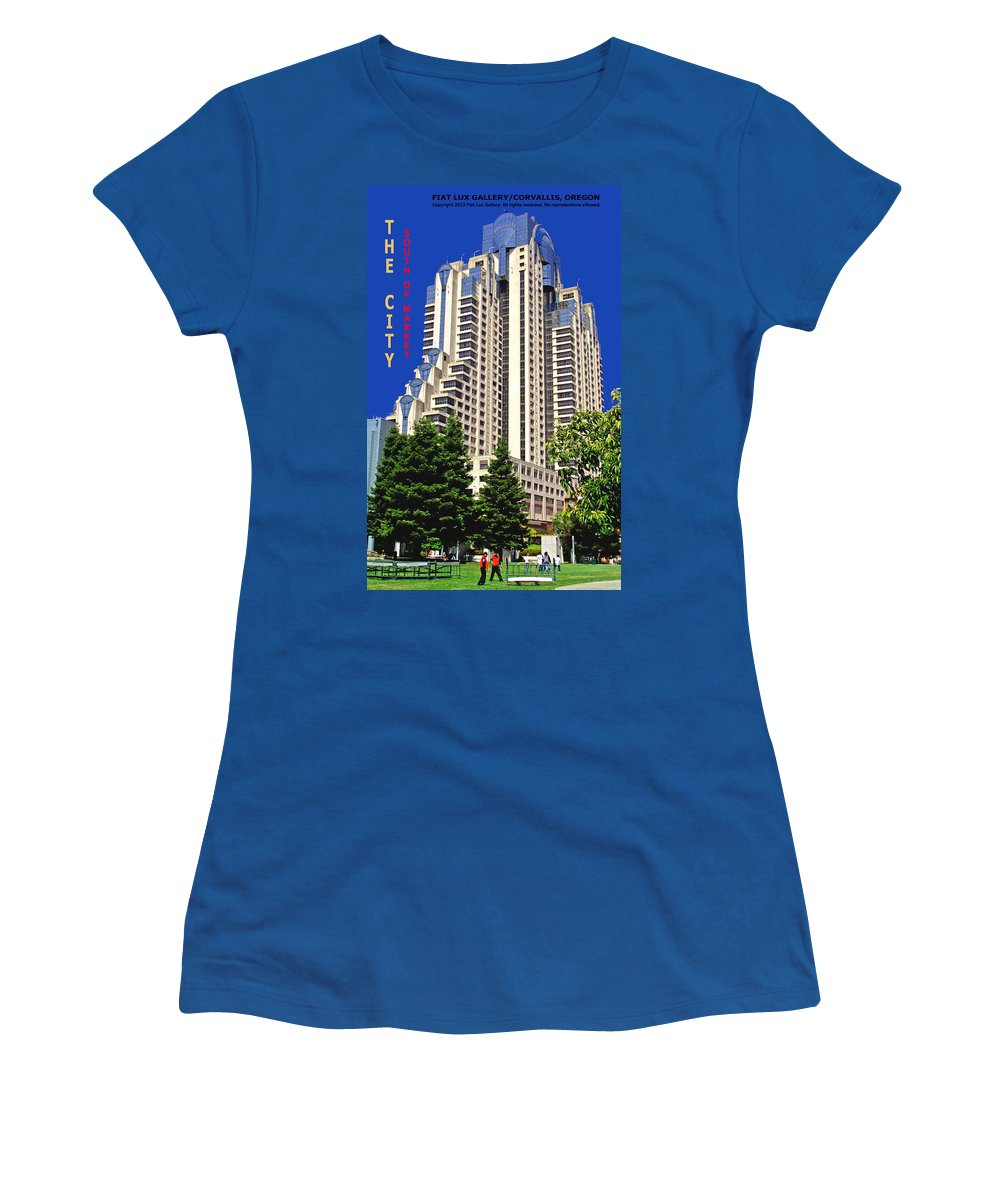 San Francisco Women's T-Shirt featuring the photograph South Of Market San Francisco by Michael Moore