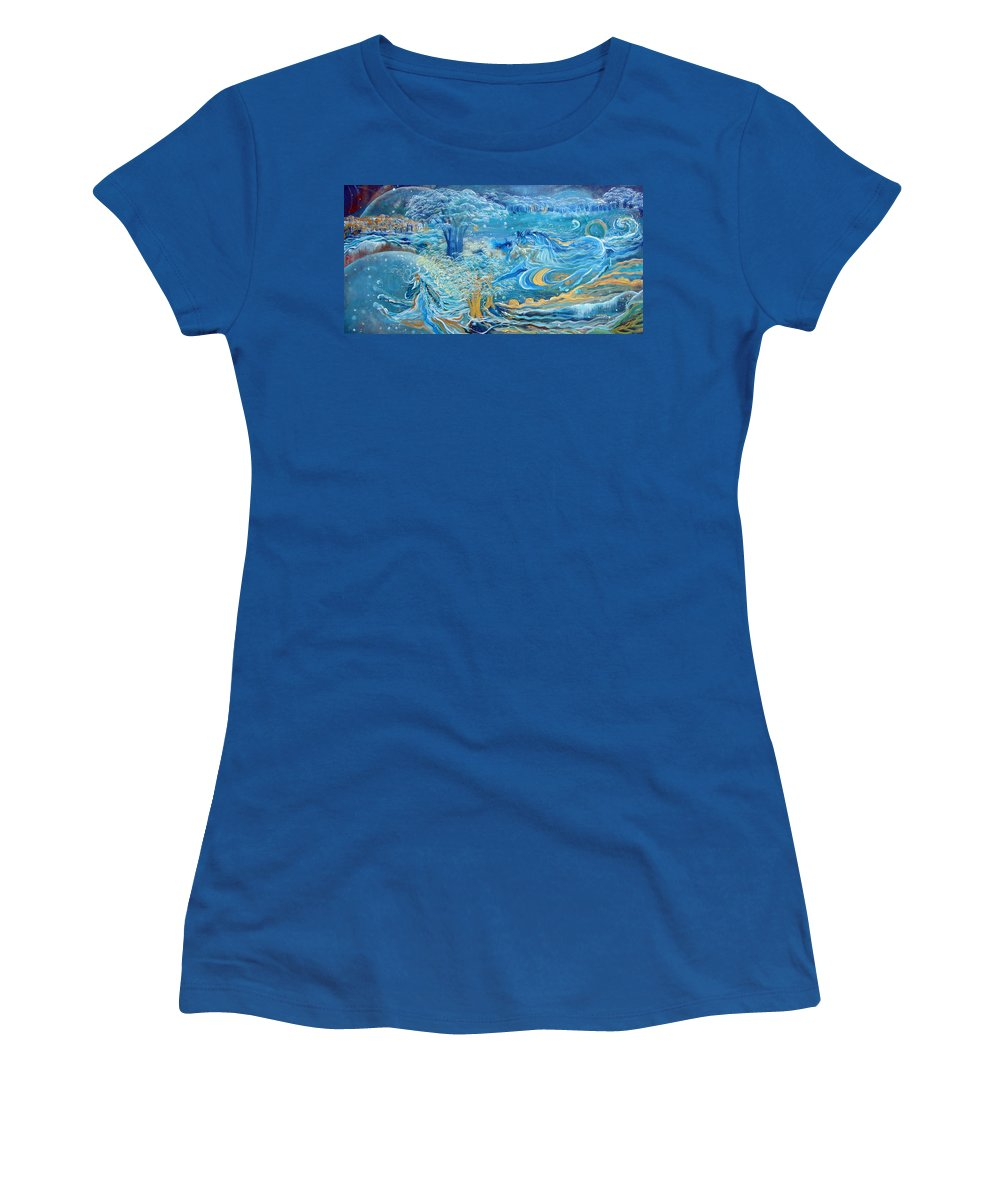 Horses Women's T-Shirt featuring the painting Spirit Horses by Ashleigh Dyan Bayer