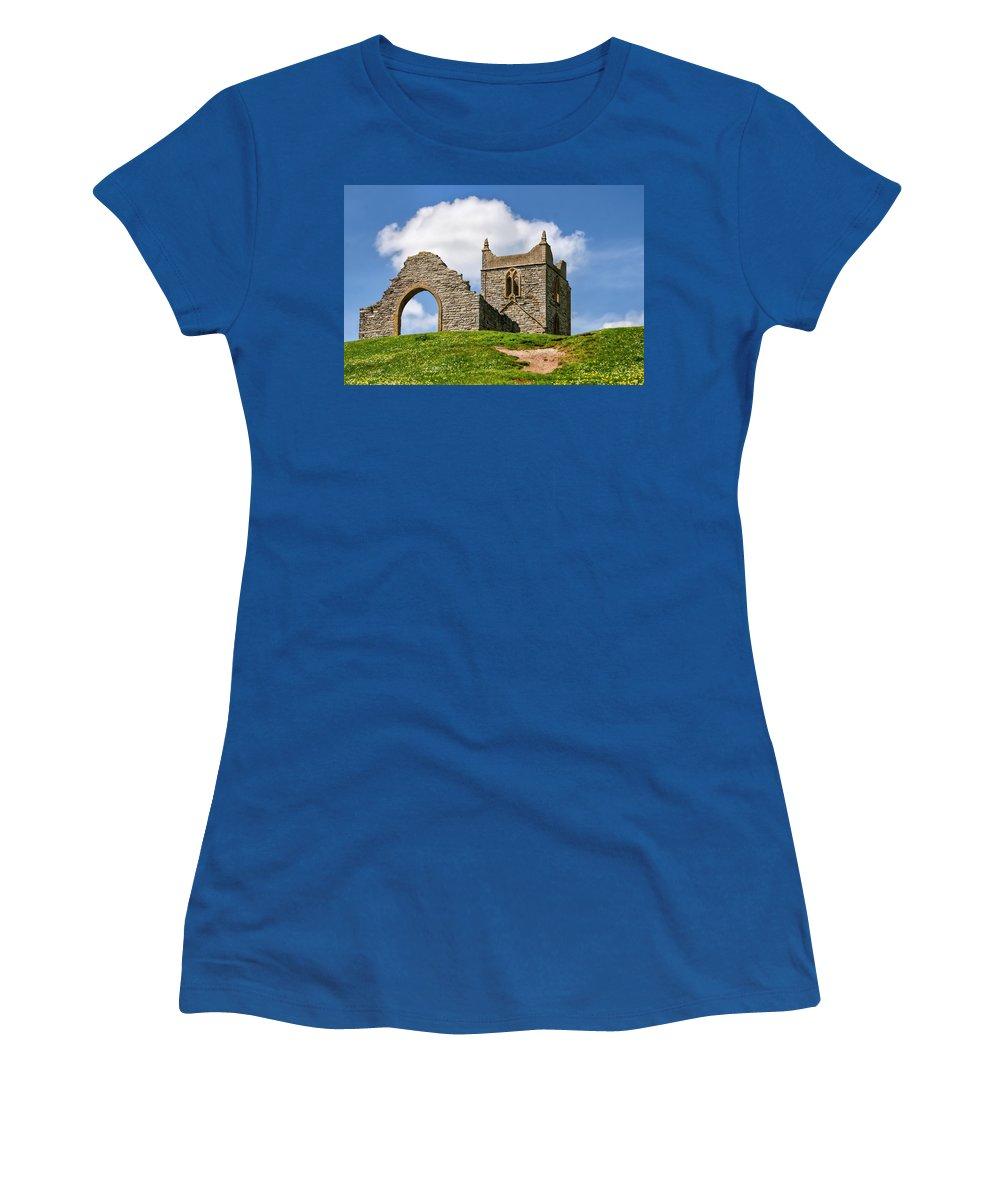 St-michael's-church Women's T-Shirt featuring the photograph St Michael's Church - Burrow Mump 4 by Susie Peek
