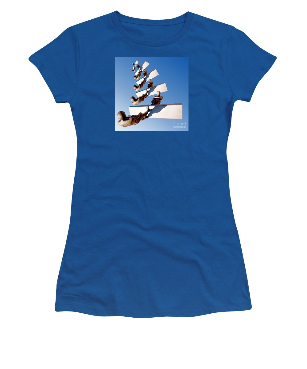 Imagination Women's T-Shirt featuring the photograph Stairway To Another Dimension by Paul Eggermann