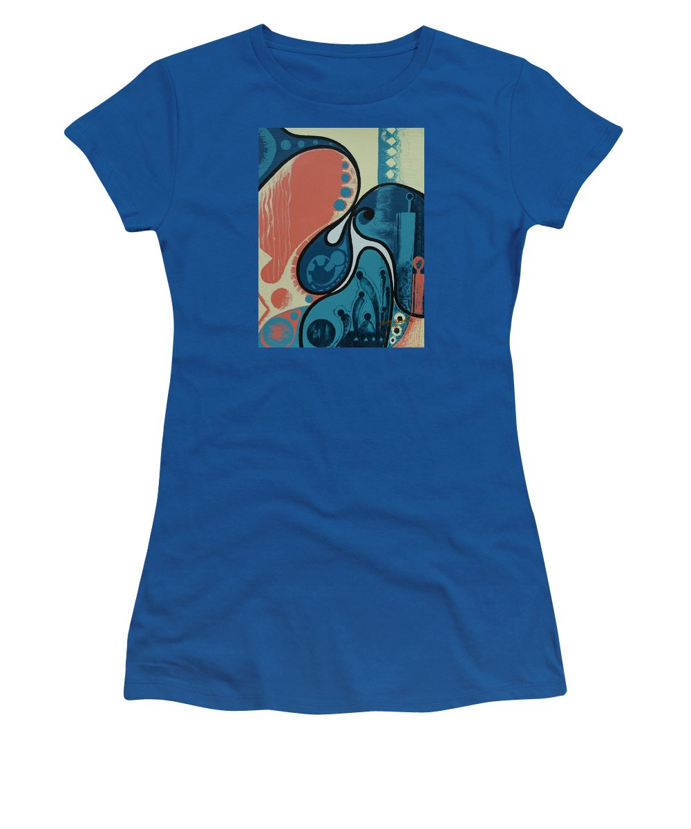 Abstract Women's T-Shirt featuring the painting Tamed by Sony Ejiro Akpotor