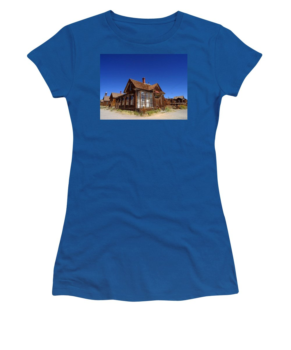 Old Women's T-Shirt featuring the painting The Old House - Before by Bruce Nutting