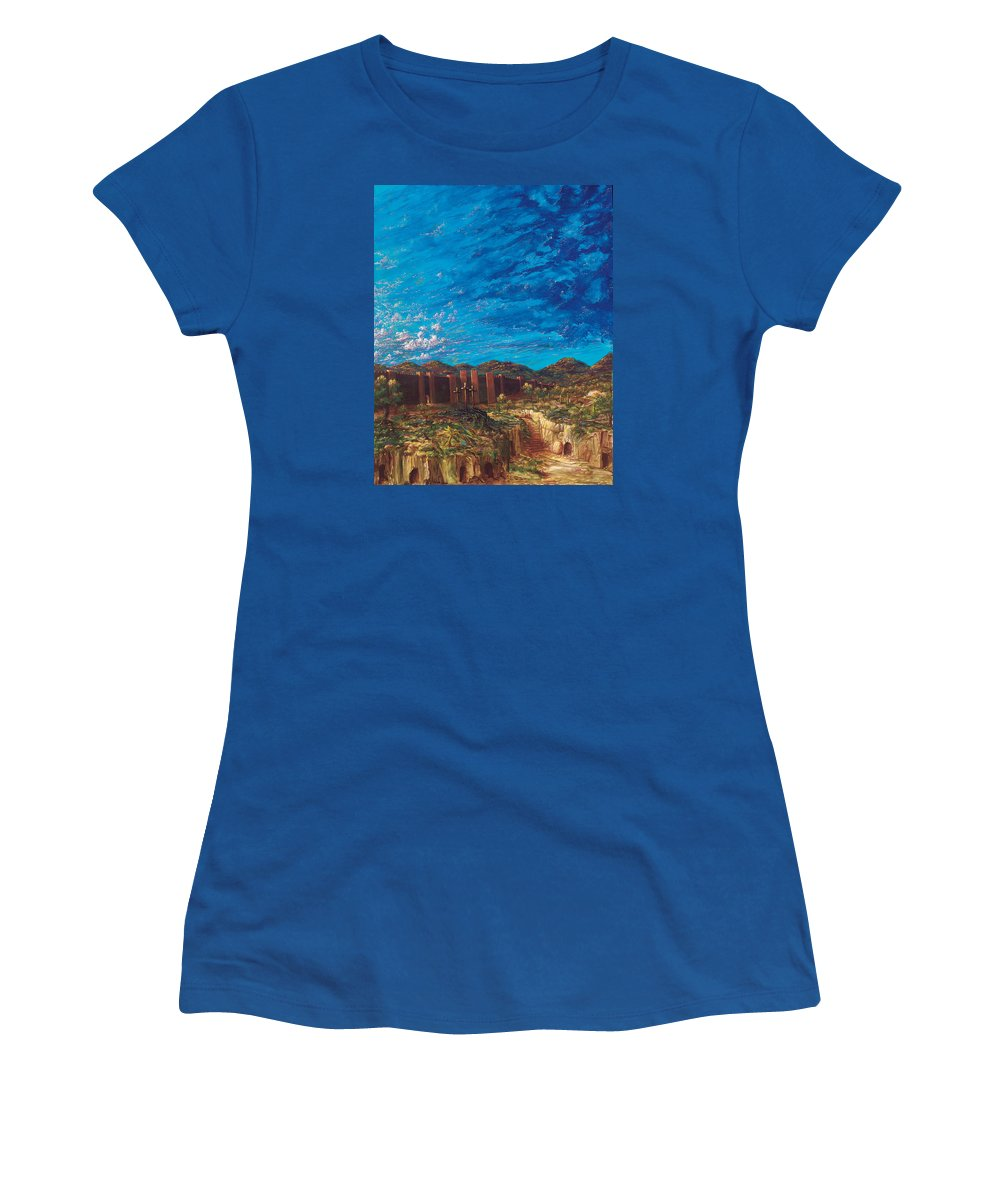 Christian Women's T-Shirt featuring the painting The Unseen Is Eternal by Robert Wright