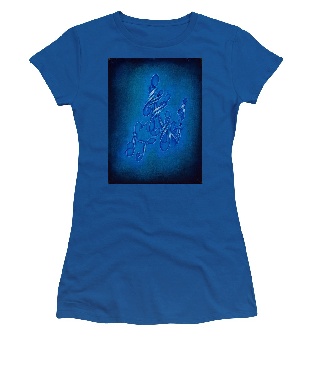 Abstract Oil Painting Women's T-Shirt (Athletic Fit) featuring the painting Unity, No. 1 by Mark Lewis
