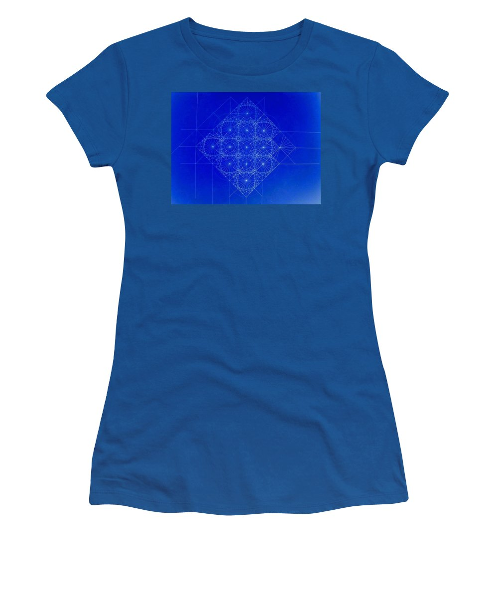 Sine Women's T-Shirt (Athletic Fit) featuring the drawing Vibrating Space Time by Jason Padgett