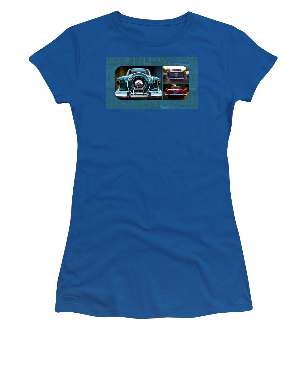 Vintage Automobiles Women's T-Shirt (Athletic Fit) featuring the photograph Vintage Automobiles by Mary Machare