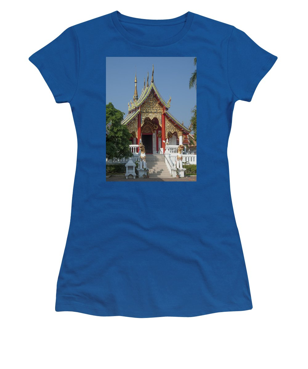 Scenic Women's T-Shirt (Athletic Fit) featuring the photograph Wat Ban Ping Phra Wihan Dthcm0317 by Gerry Gantt