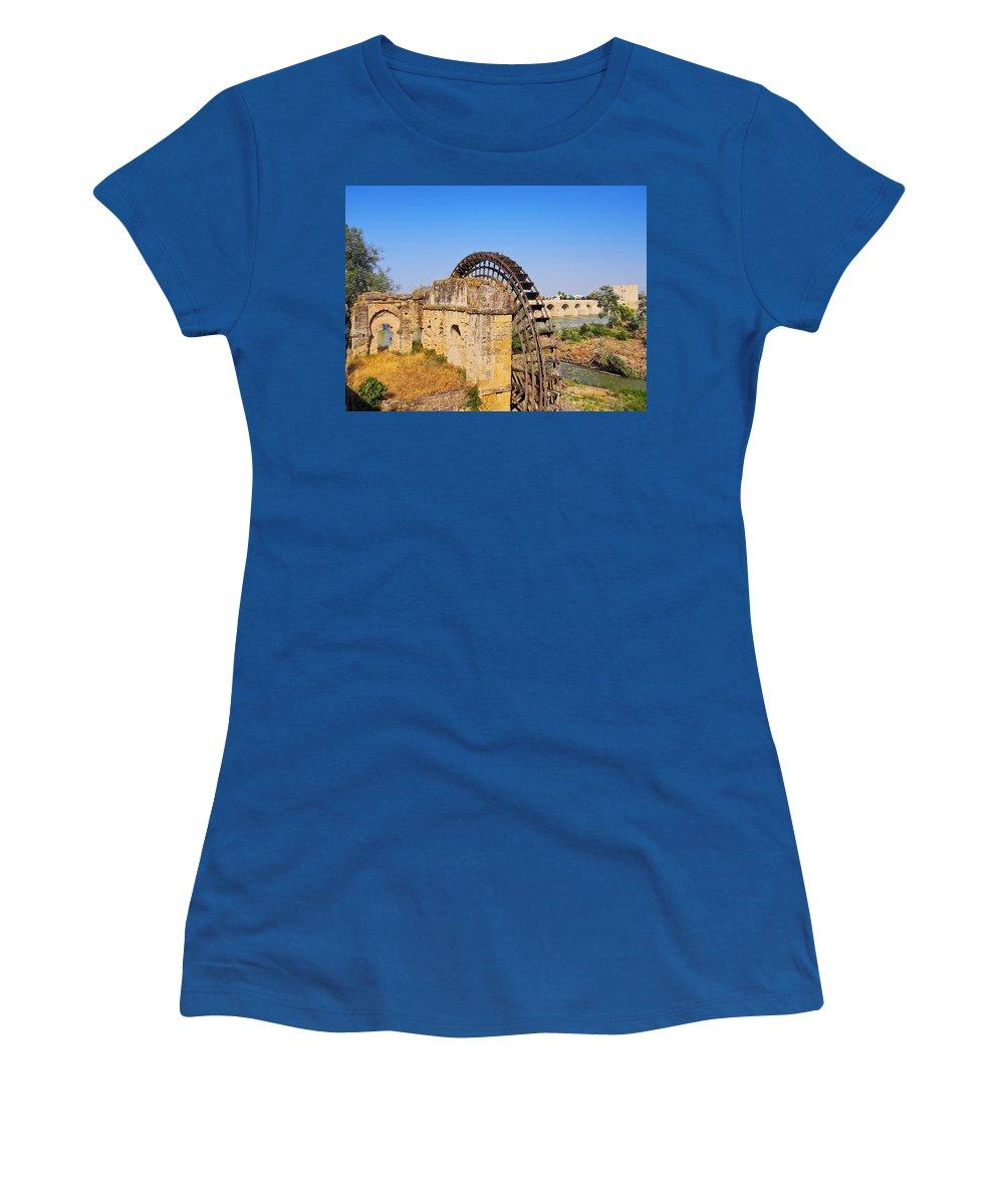 Cordoba Women's T-Shirt featuring the photograph Watermill In Cordoba by Karol Kozlowski