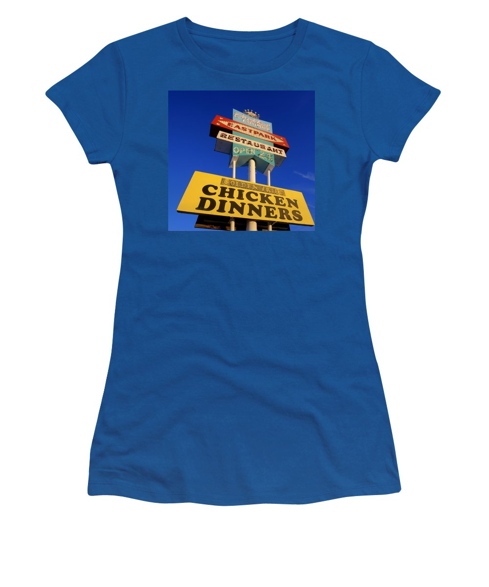 Chicken Dinner Women's T-Shirt featuring the photograph Winner Winner by David Dufresne