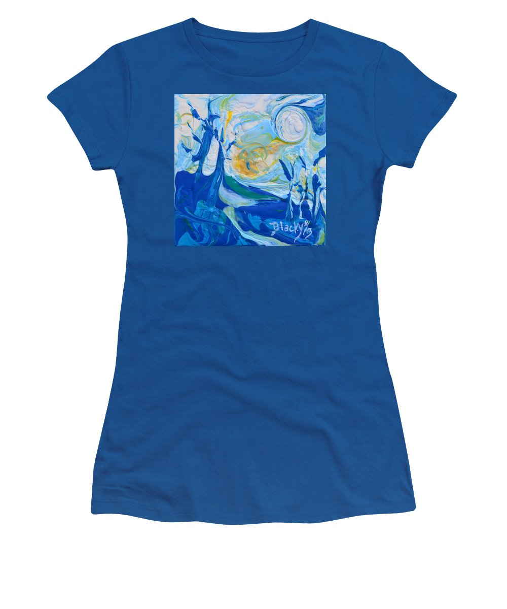 Winter Women's T-Shirt featuring the painting Winter Sunrise by Donna Blackhall