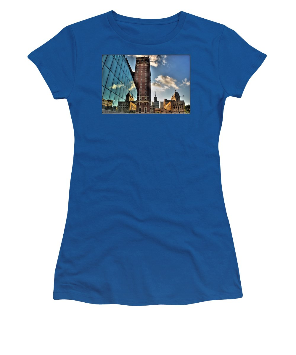 Women's T-Shirt featuring the photograph 006 Wakening Architectural Dynamics by Michael Frank Jr
