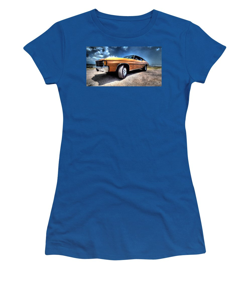 1972 Chevrolet Chevelle Women's T-Shirt featuring the photograph 1972 Chevelle by David Morefield