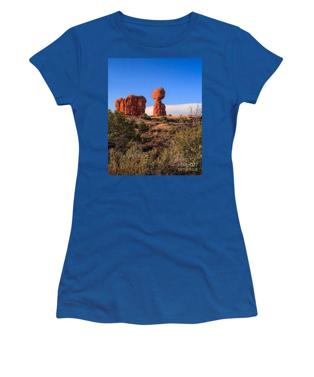 Balance Women's T-Shirt featuring the photograph Balance Rock I by Robert Bales