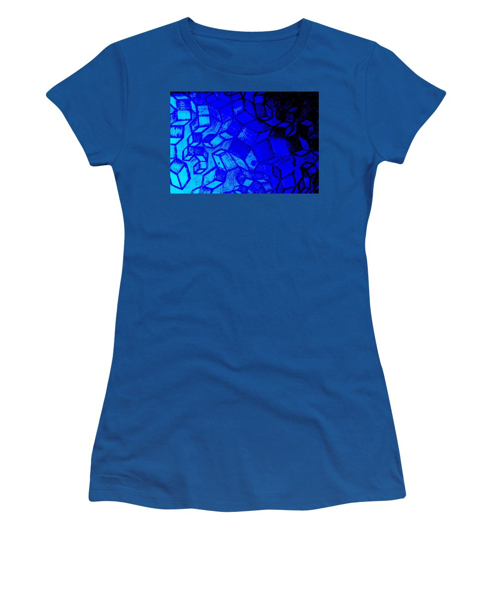 Etching Women's T-Shirt featuring the photograph Blue Zinc by Chris Berry