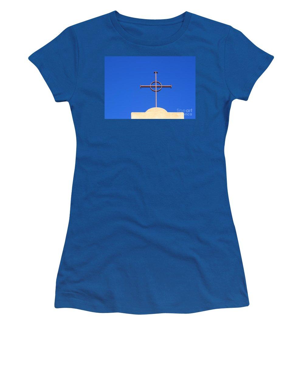 Christianity Women's T-Shirt featuring the photograph Church Cross by Henrik Lehnerer