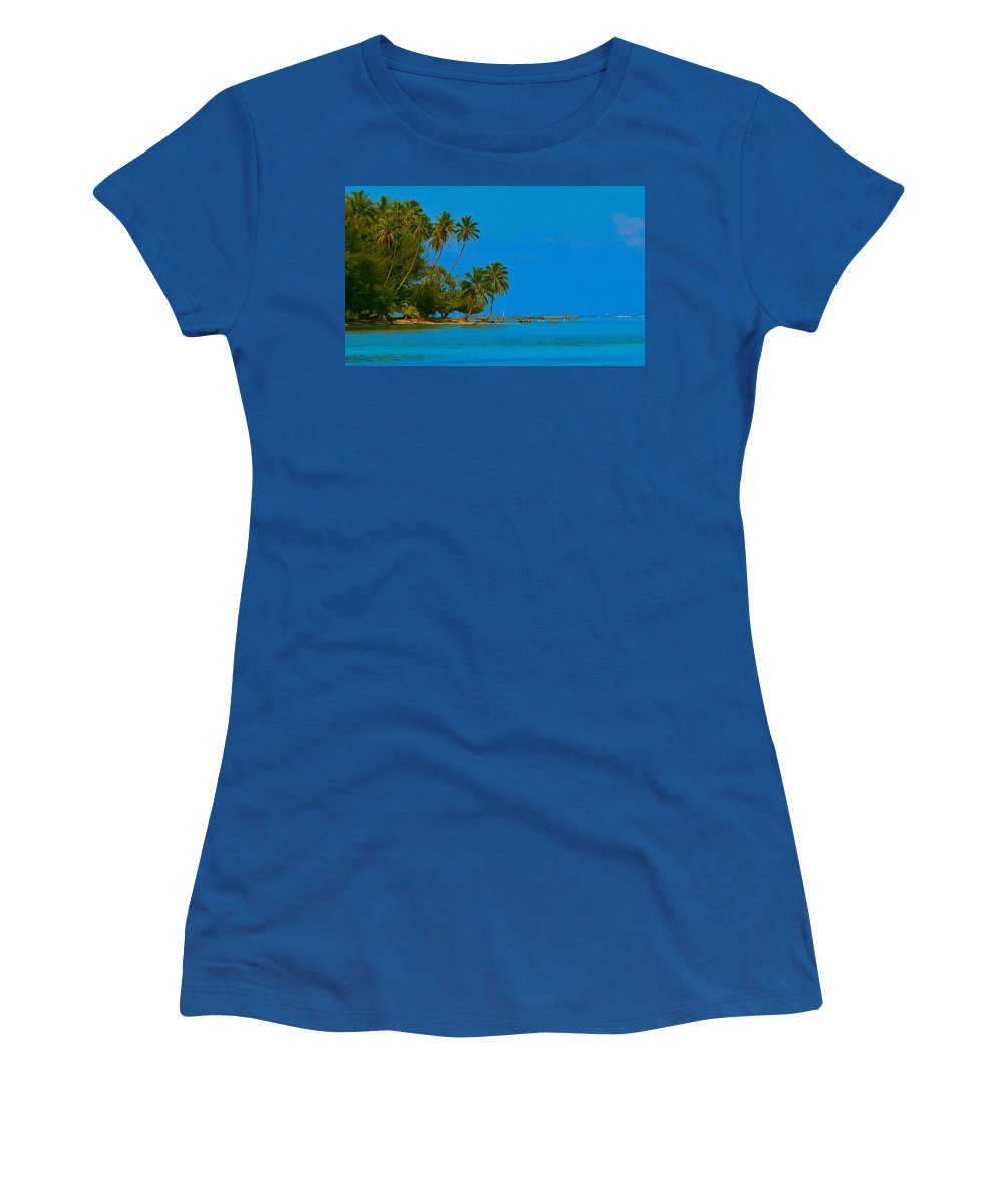 French Polynesia Women's T-Shirt featuring the photograph Coconuts Anyone by Eric Tressler