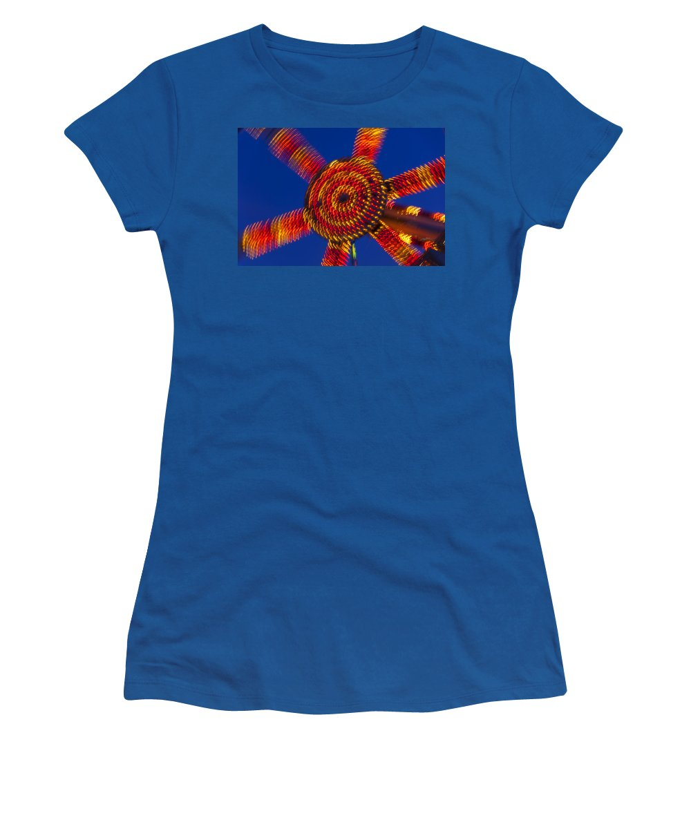 Carnival Women's T-Shirt featuring the photograph Light Dance by Garry Gay