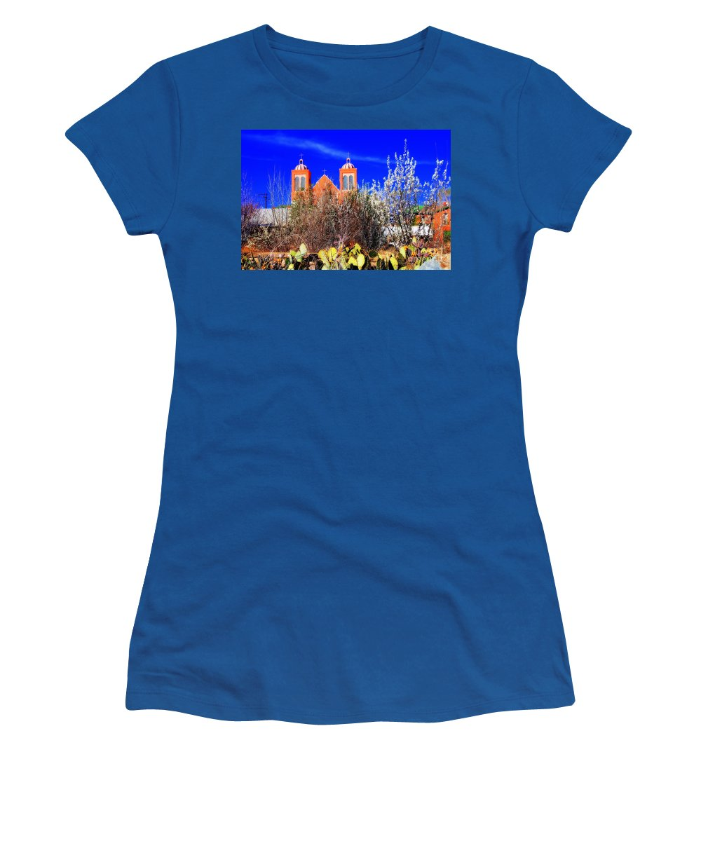 Mission Women's T-Shirt featuring the photograph Mission In Silver City Nm by Susanne Van Hulst