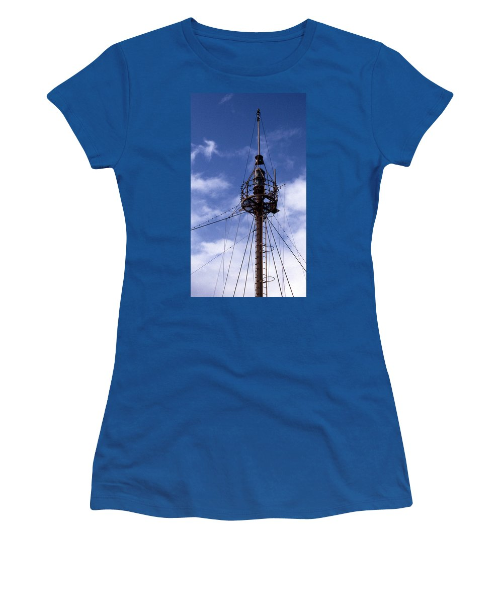 Overfalls Lightship Women's T-Shirt featuring the photograph Overfalls Light Station by Skip Willits