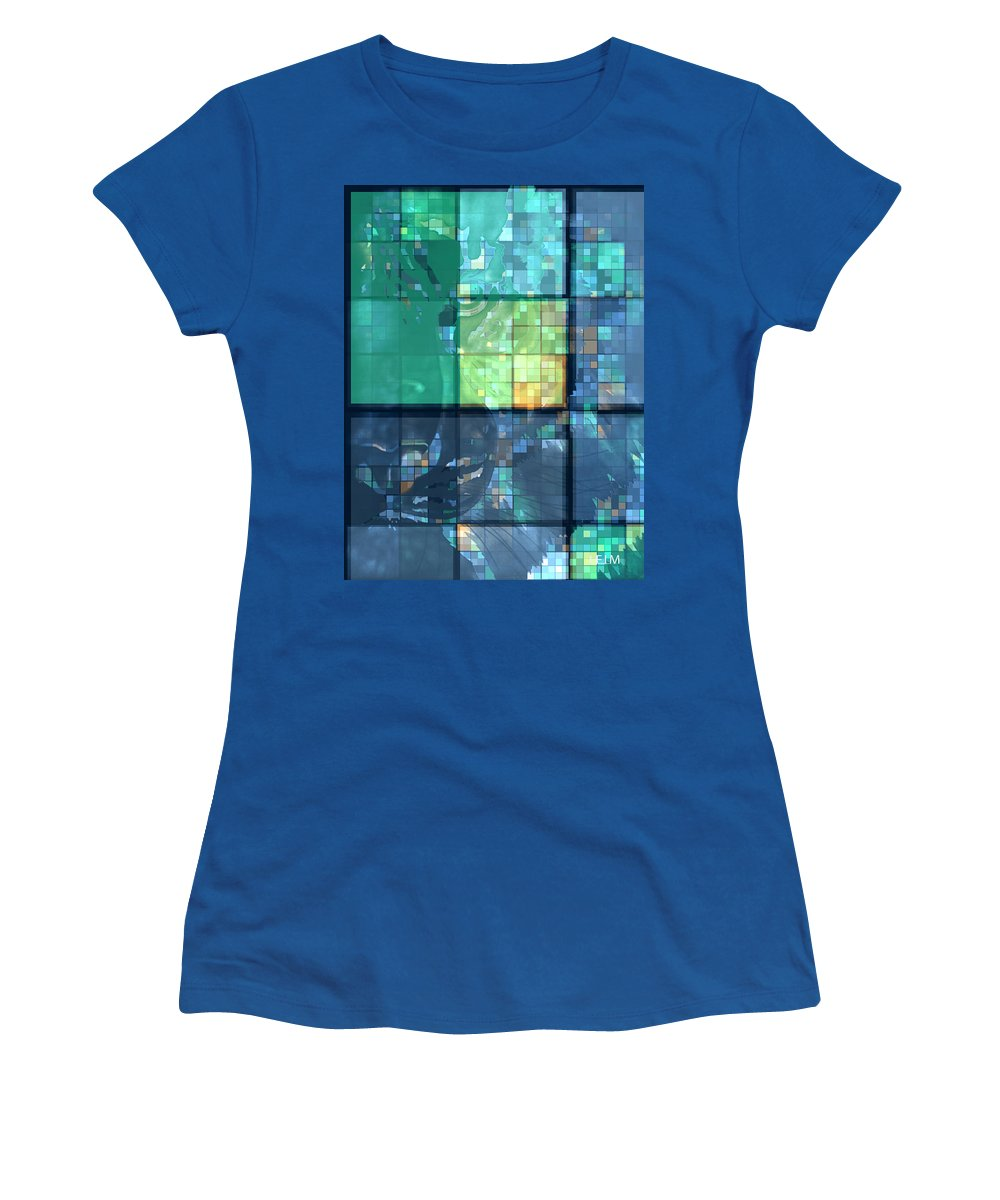 : Leopard Paintings Women's T-Shirt featuring the photograph Piercing Geo Green by Mayhem Mediums