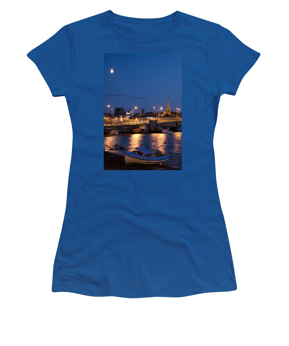Eire Women's T-Shirt featuring the photograph Wexford Harbour At Dusk by Ian Middleton