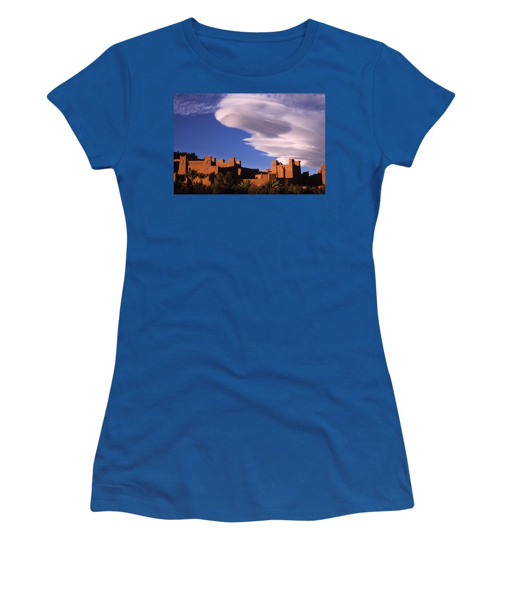 North Africa Women's T-Shirt featuring the photograph Ait Benhaddou Casbah by Michele Burgess
