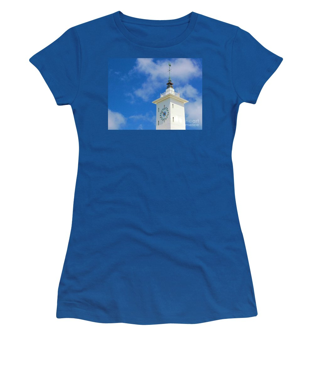Clock Women's T-Shirt featuring the photograph All Along The Watchtower by Debbi Granruth